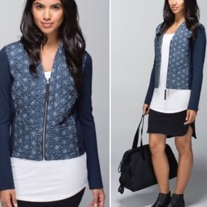 NWT Lululemon Cardigan and Again Quilted Zip-Up